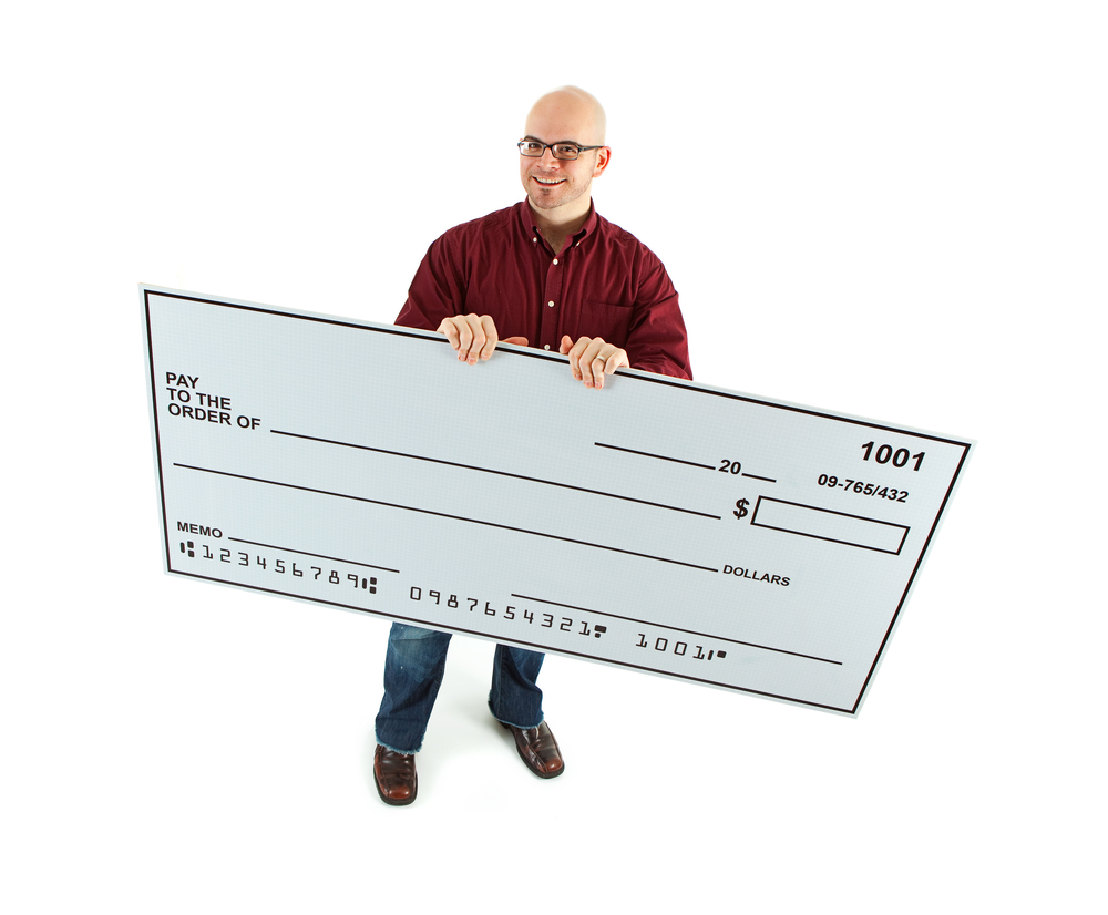 Custom Giant Checks in San Diego
